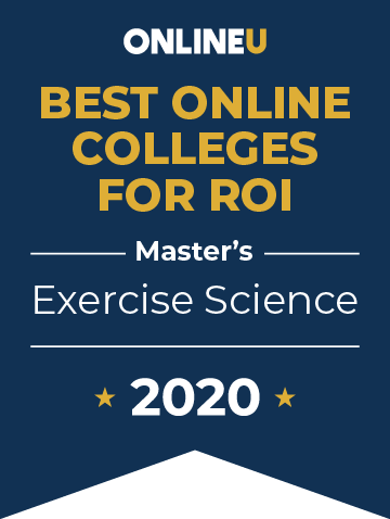 2020 Best Online Master's in Exercise Science Badge
