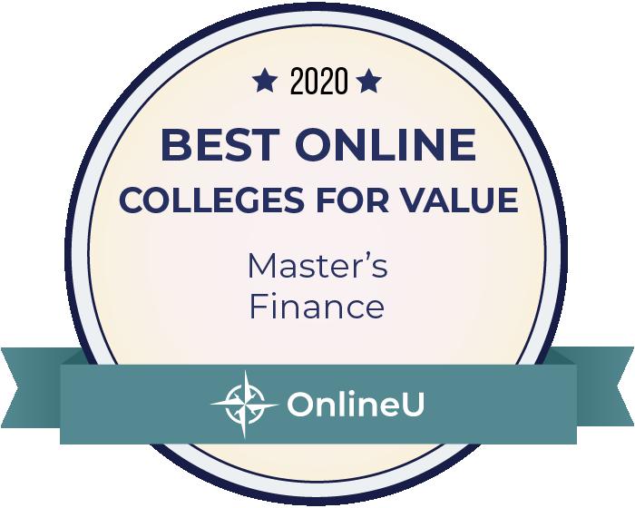 2020 Best Online Master's in Finance Badge