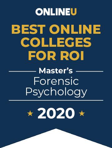 2020 Best Online Master's in Forensic Psychology Badge