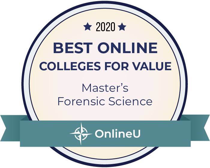 2020 Best Online Master's in Forensic Science Badge