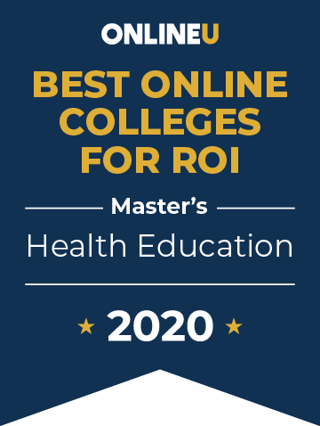 2020 Best Online Master's in Health Education Badge