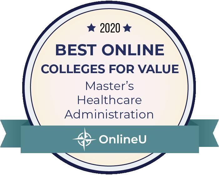 2020 Best Online Master's in Healthcare Administration Badge