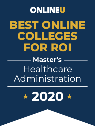2020 Best Online Master's in Healthcare Administration Badge