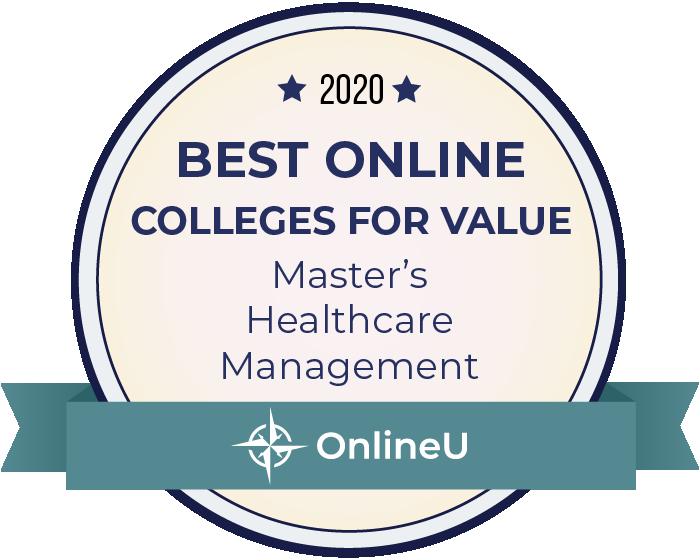 2020 Best Online Master's in Healthcare Management Badge