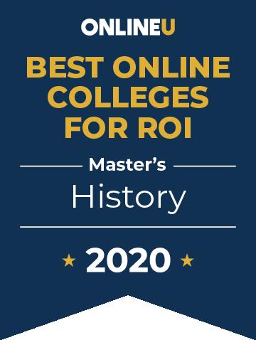 2020 Best Online Master's in History Badge