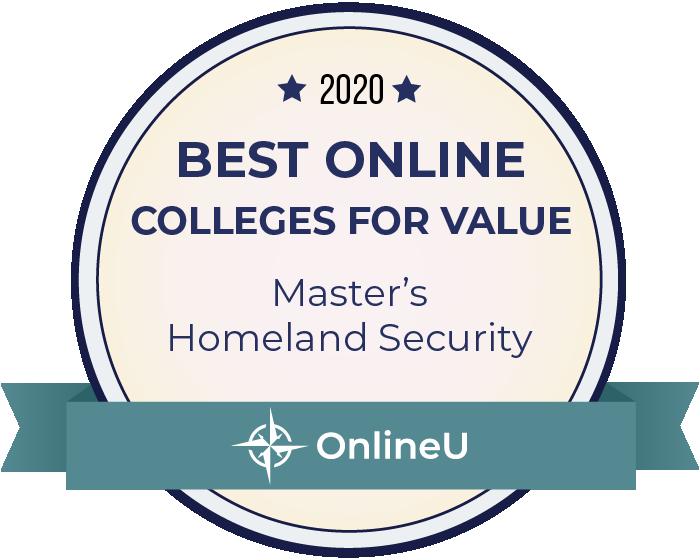 2020 Best Online Master's in Homeland Security Badge