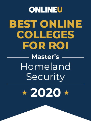 2020 Best Online Master's in Homeland Security Badge