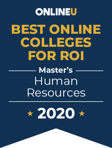 2020 Best Online Master's in Human Resources Badge