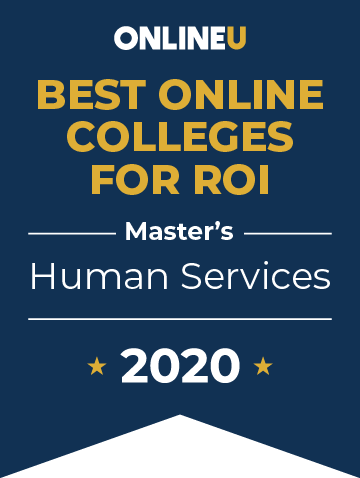 2020 Best Online Master's in Human Services Badge