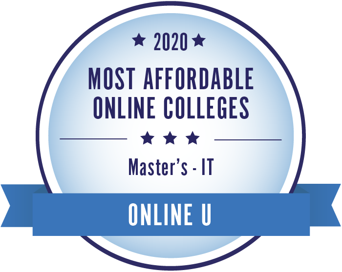 2020 Most Affordable Information Technology Masters Degrees Badge
