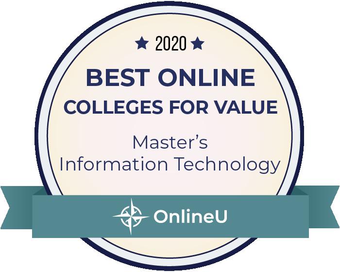 2020 Best Online Master's in Information Technology Badge