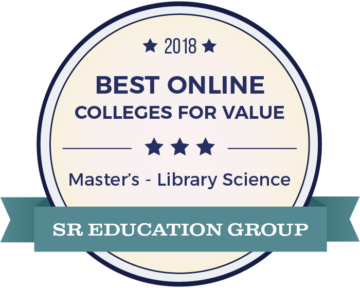 Library Science-Top Online Colleges-2018-Badge