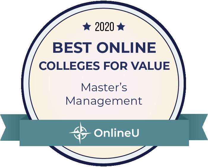 2020 Best Online Master's in Management Badge