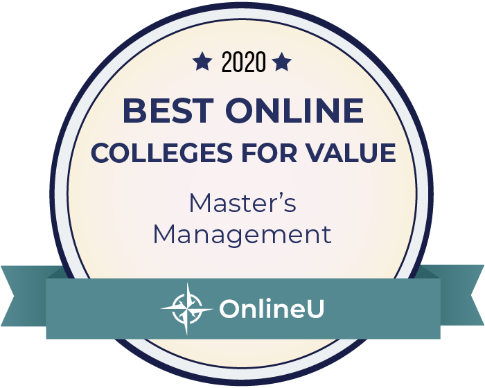 2020 Best Online Master's in Management Badge