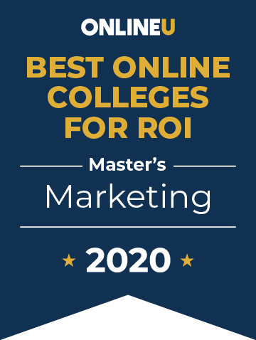 2020 Best Online Master's in Marketing Badge