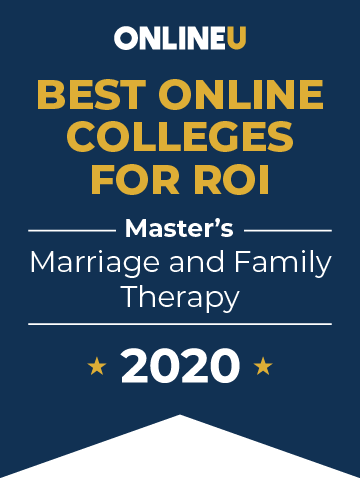 2020 Best Online Master's in Marriage & Family Therapy Badge