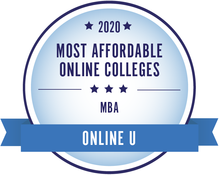 2020 Most Affordable MBA Masters Degrees Badge