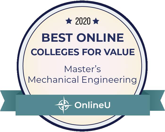 2020 Best Online Master's in Mechanical Engineering Badge