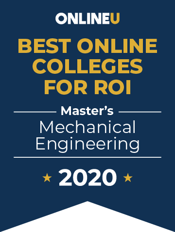 2020 Best Online Master's in Mechanical Engineering Badge