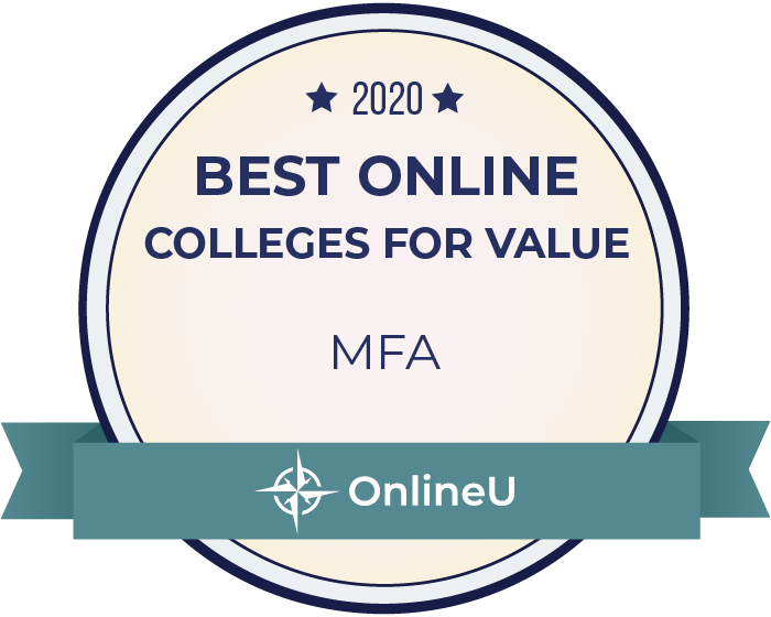 2020 Best Online Master's in MFA Badge