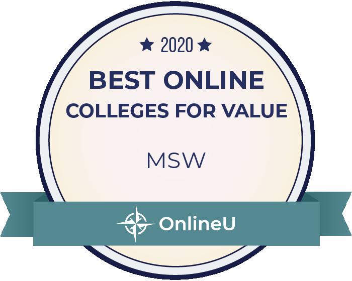 2020 Best Online Master's in MSW Badge