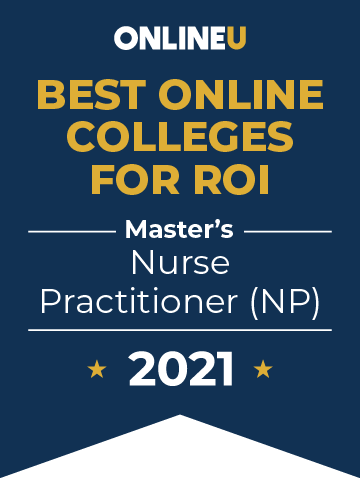 2021 Best Online Colleges Offering Master's Degrees in Nurse Practitioner (NP) Badge