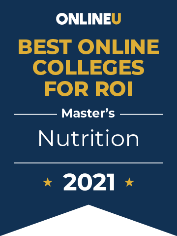 2021 Best Online Colleges Offering Master's Degrees in Nutrition Badge