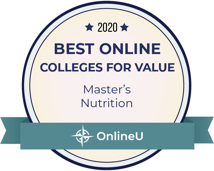 2020 Best Online Master's in Nutrition Badge