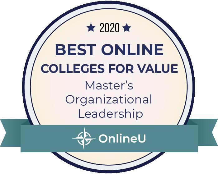 2020 Best Online Master's in Organizational Leadership Badge