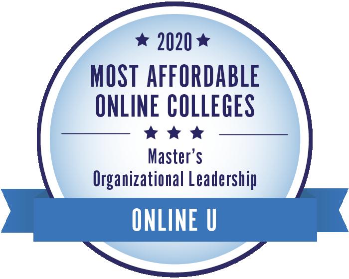 2020 Most Affordable Organizational Leadership Masters Degrees Badge