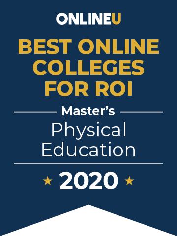 2020 Best Online Master's in Physical Education Badge