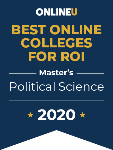 2020 Best Online Master's in Political Science Badge
