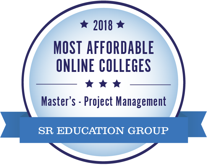 Project Management-Most Affordable Online Colleges-2018-Badge
