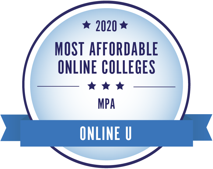 2020 Most Affordable Public Administration Masters Degrees Badge