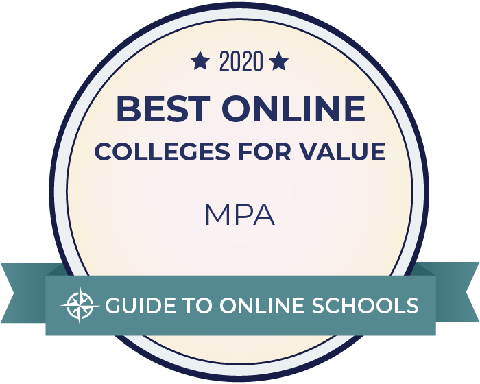 2020 Best Online Master's in Public Administration Badge
