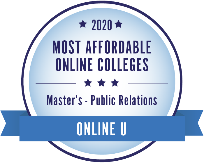 2020 Most Affordable Public Relations Masters Degrees Badge