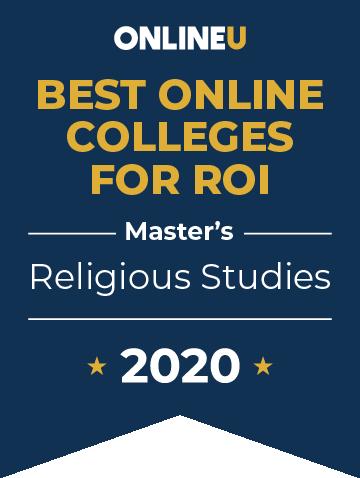 2020 Best Online Master's in Religious Studies Badge