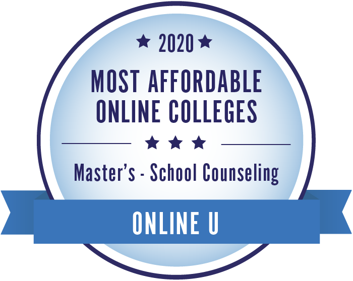 2020 Most Affordable School Counseling Masters Degrees Badge