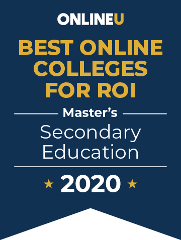 2020 Best Online Master's in Secondary Education Badge