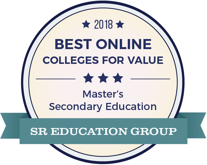 Secondary Education-Top Online Colleges-2018-Badge