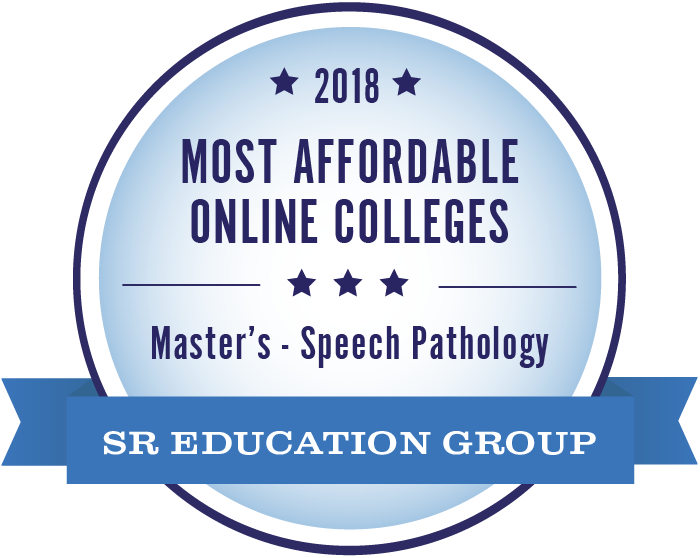 Speech Pathology-Most Affordable Online Colleges-2018-Badge