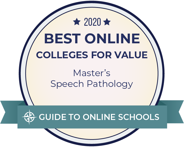 2020 Best Online Master's in Speech Pathology Badge