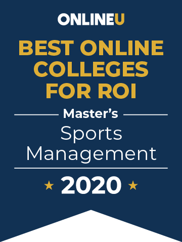 2020 Best Online Master's in Sports Management Badge