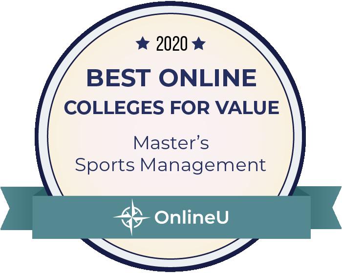 2020 Best Online Master's in Sports Management Badge