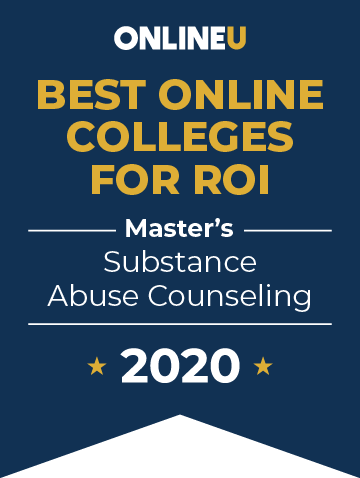 2020 Best Online Master's in Substance Abuse Counseling Badge