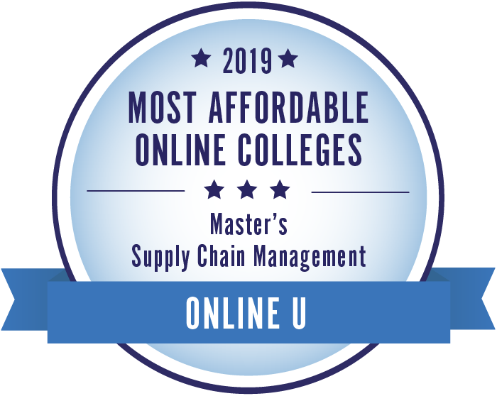 Supply Chain Management-Most Affordable Online Colleges-2019-Badge