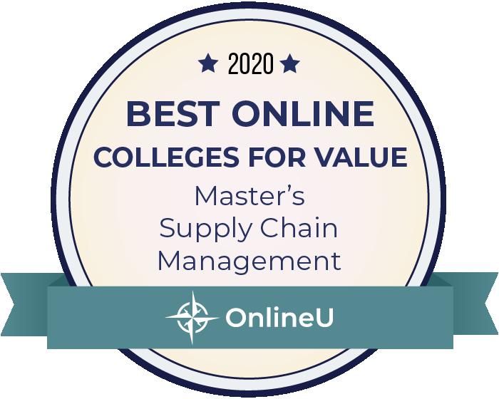 2020 Best Online Master's in Supply Chain Management Badge