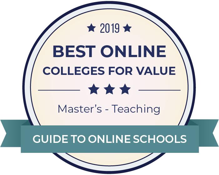 2019 Best Online Master's in Teaching Badge