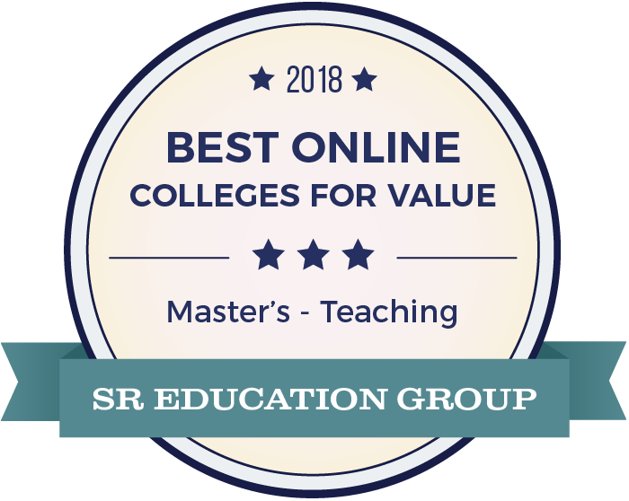 Teaching-Top Online Colleges-2018-Badge