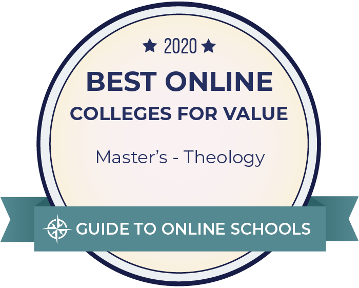 2020 Best Online Master's in Theology Badge